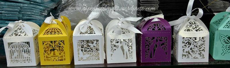 Personalised Wedding Gifts Dubai : Lazer Cut Favor BoxesAspen House Gifts
