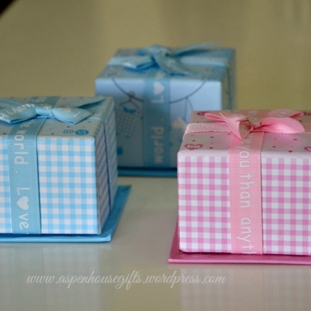Aspen house gifts personalized gifts favors and keepsakes in dubai baby shower cube favor boxes negle Gallery